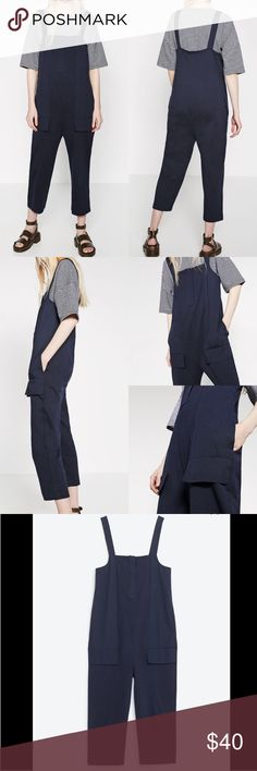 "Lvg 8-14 Zara Jumpsuit! Pull on and go! 100% cotton and 101% style! Bibbed front with buttons and soft and comfy. Perfect layer item. S: 14"" underarm to underarm, 18.2"" hips and 19"" inseam. 50"" total length. M: 15.5"" underarm to underarm, 19.25"" hips and 19.5"" inseam. 48.75"" total length Zara Pants Jumpsuits & Rompers"