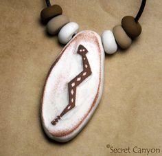 Rattlesnake Petroglyph Style Primitive Native by SecretCanyon, $9.95