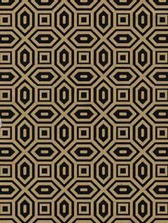 Dynasty Onxy and Gold Wallpaper l American Blinds.com l Black and Gold Geometric