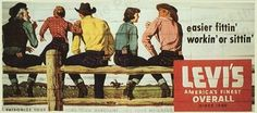 Levi-Strauss Blue Jeans & More Clothing - Vintage Billboard Advertising