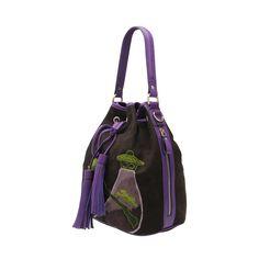 $1993 #417221 #CiciCheung #LAMARTHE #Pavilion --- Materials:Leather / Size:W26cm*H24cm*D15cm --- Keywords: Embroidery handbags, Mandarin handbags,