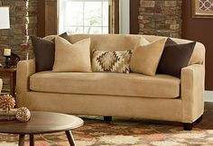 Today's worn out couch can be tomorrow's sleek #leather sofa. Stretch Leather Separate Seat slipcover, full grain pattern will impress even the most discriminating eye.
