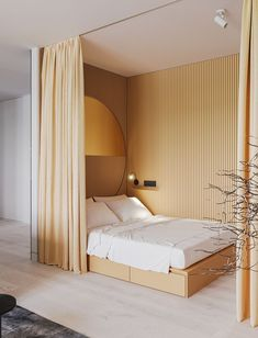5 things that curtains can hide inside a bedroom | The bed. Photo via Ruslan Kovalchuk