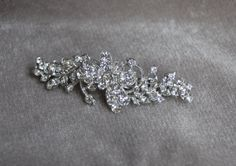 Rhinestone Bridal Hair Clip / Bridal Hair Barrette / by lyndahats, $20.00