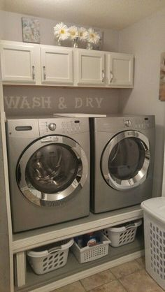 "Fantastic ""laundry room storage diy shelves"" info is offered on our internet site. Have a look and you wont be sorry you did. Tiny Laundry Rooms, Laundry Room Remodel, Laundry Room Cabinets, Farmhouse Laundry Room, Laundry Room Organization, Laundry Room Design, Diy Cabinets, Laundry Decor, Farmhouse Style"
