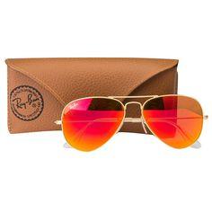 a3ae538e64 RB3025112 69medium (size 58) golden orange mirrored aviator men s sunglasses