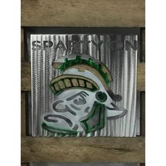 Michigan State Sparty On Logo Metal Wall Art