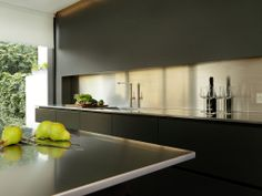 Stunning Snowdowne Alno Star Fine Graphite Matt Kitchen Stainless Steel Worktops Snowdowne