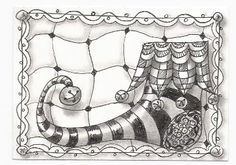 My Stamping Place: Zentangle Inspired Art ATC Swap 2 - If the Shoe Fits