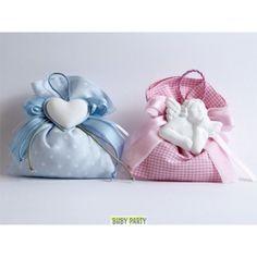Sacchetti in stoffa per confetti con gessetto