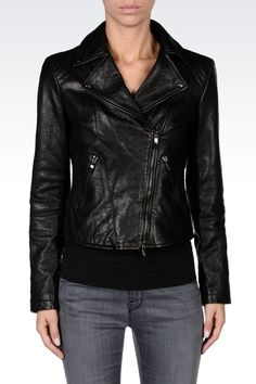 PURCHASED Armani Jeans Women Leather Jacket - Armani Jeans Official Online  Store Armani Jeans Jacket 133fcf33c35