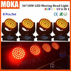 3360.00$  Buy here - http://alilez.worldwells.pw/go.php?t=32764296335 - 8PCS/LOT Stage Light Head Moving Led 320w 18w*36 Disco Dj Effect Light Strobe 1-20 Times / sec For Show Hotel Wedding 3360.00$