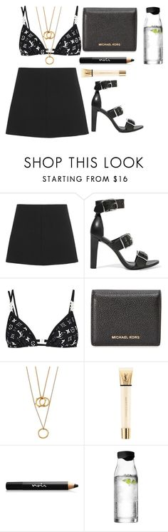 """Untitled #418"" by petitaprenent on Polyvore featuring RED Valentino, Alexander Wang, MICHAEL Michael Kors, Chloé, Yves Saint Laurent, Noir Cosmetics and Menu"