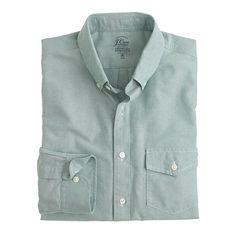 J.Crew+-+Slim+lightweight+vintage+oxford+cloth+shirt+in+solid