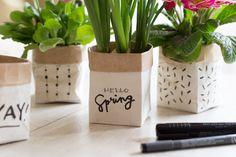 Easter Presents, Tetra Pak, Photo Transfer, Planter Pots, Spring, Gifts, Inspiration, Flower Vases, Easter