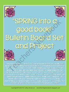 Spring into a good book bulletin board