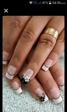 70 Trendy Spring Nail Designs And Colors Inspire You 2019 - - French Nail Designs, Nail Designs Spring, Nail Art Designs, Nails Design, Beautiful Nail Art, Gorgeous Nails, Fancy Nails, Trendy Nails, French Tip Nails