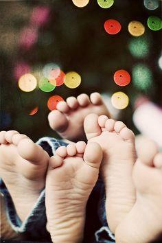 Baby feet. Sibling feet.