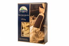 Pacco Rigatoni --- Durum wheat pasta, the pale colour usual in a product dried slowly at medium temperature, cut into small, ridged tubes of about 1cm in diameter and flat ends, with a slightly rough surface typical of pasta drawn with bronze dies. Product to be consumed after cooking in boiling water, salt to taste, for the time indicated on the package.