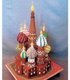 Former First-Place Winner Nancy Kyzer of Indianapolis, IN, used bubble gum for the onion domes on her replica of St. Basil's Basilica.  - GoodHousekeeping.com