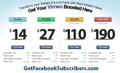 Get Vimeo views  http://www.TheSocialMediaStore.com