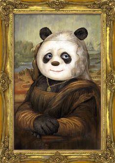 Panda Mona Lisa