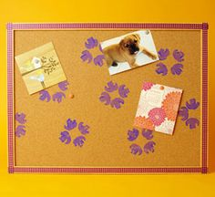 Children should create their surroundings from enhancing bulletin boards to making their own nametags and posters for the classroom.  Using food items and other natural textures as stamps can be a fun art and sensory activity.