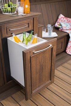 Now you're talking...With pull out trash bins, hampers and ice coolers, Trex Outdoor Storage has everything you need to effortlessly entertain your guests. #YourNextDeck