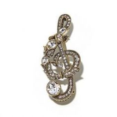 """Music To My Ears"" Crystal Pin"