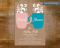 Coffee Themed Bridal Shower Invitation  by NeenerNineDesigns