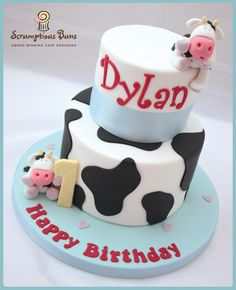 Dilly Moo's 1st Birthday Cake, Scrumptious Buns x