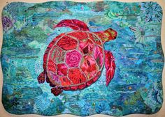 """Trudy Turtle"", 32"" x 22"", by Ingrid Cattaneo 