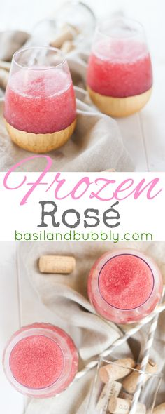Frozen Rosé -- I'm drinking this easy slushy frozen wine cocktail all summer long. Love it for porch drinking or a brunch cocktail