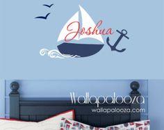Arte de la pared náuticas arte de la pared por WallapaloozaDecals