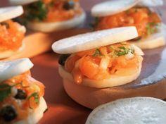 Découvrez la recette Bouchées au radis noir sur cuisineactuelle.fr.
