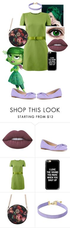 """""""Disgust"""" by sleepyfangirl ❤ liked on Polyvore featuring Lime Crime, ANNA BAIGUERA, Alexander McQueen, Casetify and Vanessa Mooney"""