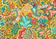 Sun-fi lled Provence, France – with its vivid, folkloric beauty – inspires this gypsy-charmed floral delight. Spiced orange, golden saffron and brick red swirl to their own rhythms across an earthy mustard background and over the detailed foulard design inside. Olive green and teal lend their romantic touches.