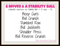 Arm and Core Stability Ball workout