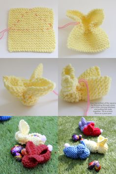 Knitted Bunnies for Easter - Easy Knitting Easter Project DIY Tutorial