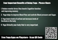 Four Important Benefits of Doing Yoga - These are four important benefits of doing yoga. Do not miss to Practice Yoga even for one day. Please share