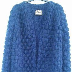 Yarn Inspiration, Fur Coat, Jackets, Handmade, Blue, Fashion, Dots, Down Jackets, Hand Made