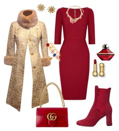 """Christmas....."" by yasmina33 on Polyvore featuring Roland Mouret, Dolce&Gabbana, Oscar de la Renta, Chanel, Derek Lam, Gucci and Guerlain"