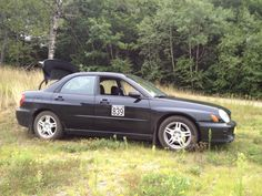 Car #839 Subaru Impreza 2.5rs @ the New England Region Rally Against Leukemia. Photo by Amy and Kris.