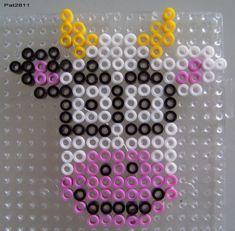 Perle Hama : Vache