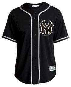Majestic Men's Aaron Judge New York Yankees Pitch Black Jersey - Black M Teen Swag Outfits, Teen Fashion Outfits, Cute Casual Outfits, New York Yankees Shirt, Aesthetic Grunge Outfit, Tomboy Fashion, Summer Shirts, Swagg, Shirt Jacket
