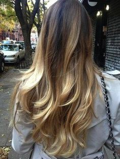 Perfect layered ombre and cut for a cute summer look...