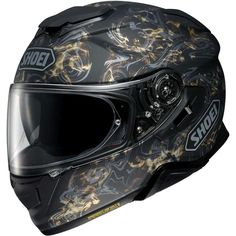 Buy the Shoei GT Air 2 Conjure in black at Motolegends with free UK delivery and returns on all protective wear. Visit our website for more Helmets, and for more products from Shoei. Shoei Motorcycle Helmets, Shoei Helmets, Full Face Motorcycle Helmets, Motorcycle Outfit, Dafy Moto, Shell Structure, Sports Helmet, Motorcycle Accessories, The Conjuring