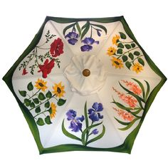 The Original Hand Painted Garden Umbrella Colorful Umbrellas, Umbrellas Parasols, Under My Umbrella, Beach Umbrella, Umbrella Painting, Vintage Umbrella, Chic Outfits, Casual Looks, Cherbourg