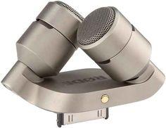 A stereo recording microphone attachment.
