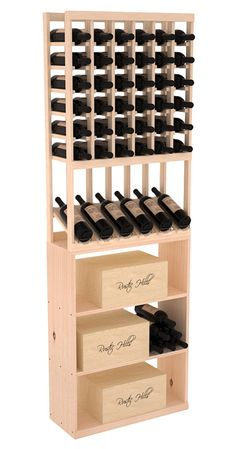 114 Bottle High Reveal Case Bin Wine Storage Rack Kit Combo in Pine. 13 Stains to Choose From! Wine Display, Display Case, Wine Racks America, Wine Rack Storage, Barolo Wine, Wine Case, Wine Fridge, Wooden Case, Wine Making